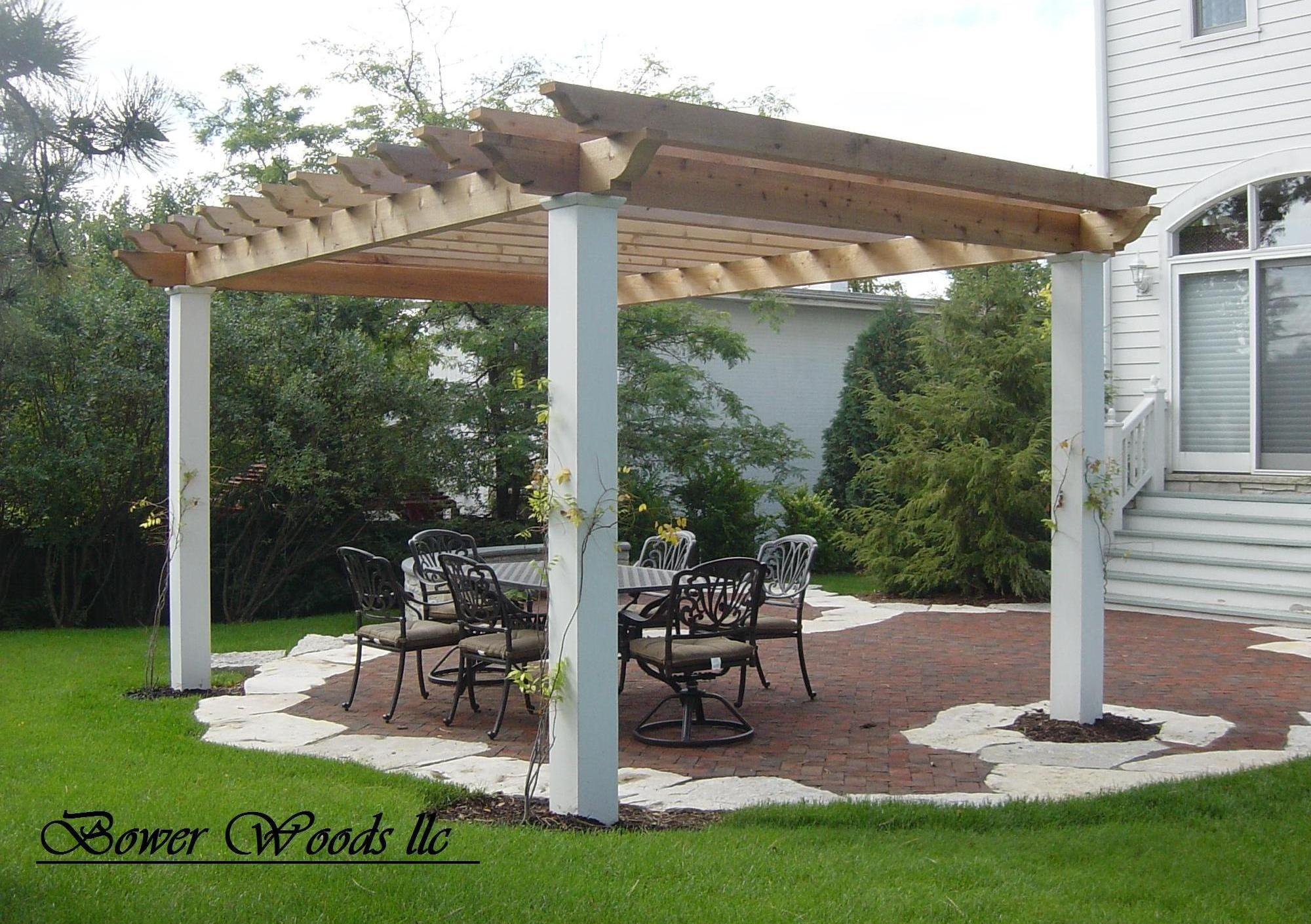 rustic pergola plans woodideas